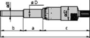 Immagine per la categoria Serie 110 -Tavola riassuntiva testine micrometriche