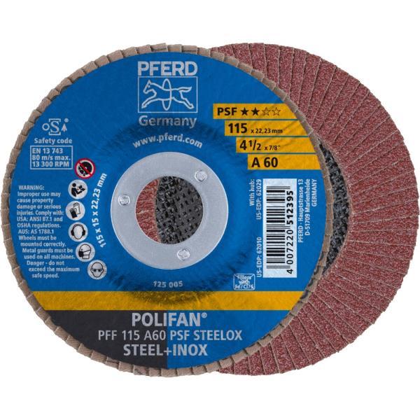 Immagine di PFERD Disco lamellare POLIFAN PFF 115 A 60 PSF STEELOX