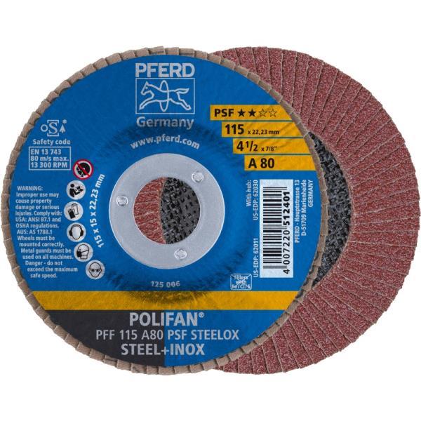 Immagine di PFERD Disco lamellare POLIFAN PFF 115 A 80 PSF STEELOX