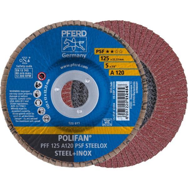 Immagine di PFERD Disco lamellare POLIFAN PFF 125 A 120 PSF STEELOX