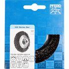 Immagine di PFERD Spazzole coniche con foro filettato, filo non ritorto POS KBU 10010/M14 INOX 0,35