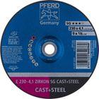 Immagine di PFERD Dischi da sbavo E 230-4,1 ZIRKON SG CAST+STEEL