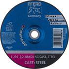Immagine di PFERD Dischi da sbavo E 230-5,2 ZIRKON SG CAST+STEEL