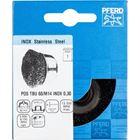 Immagine di PFERD Spazzole a tazza con foro filettato, filo non ritorto POS TBU 60/M14 INOX 0,30