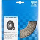 Immagine di PFERD Spazzole a disco, filo non ritorto POS RBU 18025/AK32-2 INOX 0,30